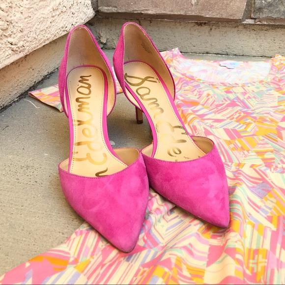 eb63ef7fc8a9df Sam Edelman Shoes - SAM EDELMAN Hot Pink Tesla Suede Pumps Size 7.5